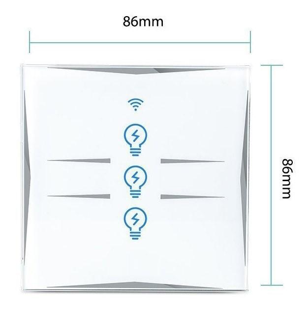 Kesen dotykový vypínač na 2 okruhy biely, WiFi, Tuya a Smart Life kompatibilný 19