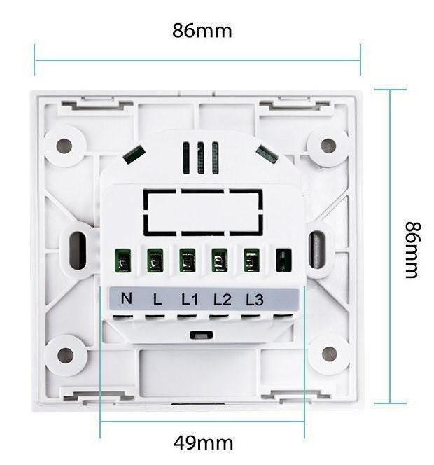 Kesen dotykový vypínač na 2 okruhy biely, WiFi, Tuya a Smart Life kompatibilný 17