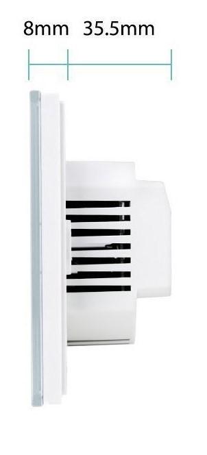 Kesen dotykový vypínač na 2 okruhy biely, WiFi, Tuya a Smart Life kompatibilný 18