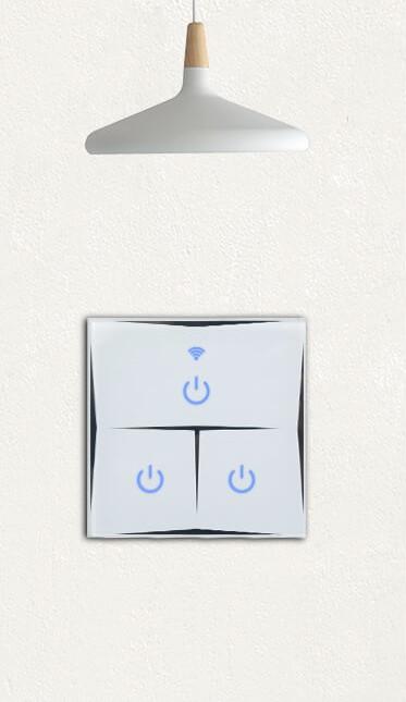 Kesen dotykový vypínač na 2 okruhy biely, WiFi, Tuya a Smart Life kompatibilný 15