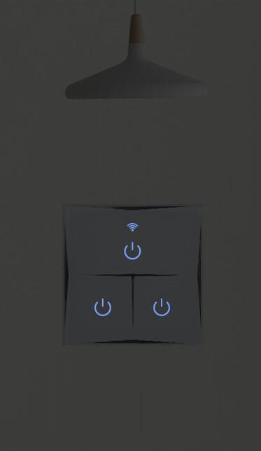 Kesen dotykový vypínač na 2 okruhy biely, WiFi, Tuya a Smart Life kompatibilný 16