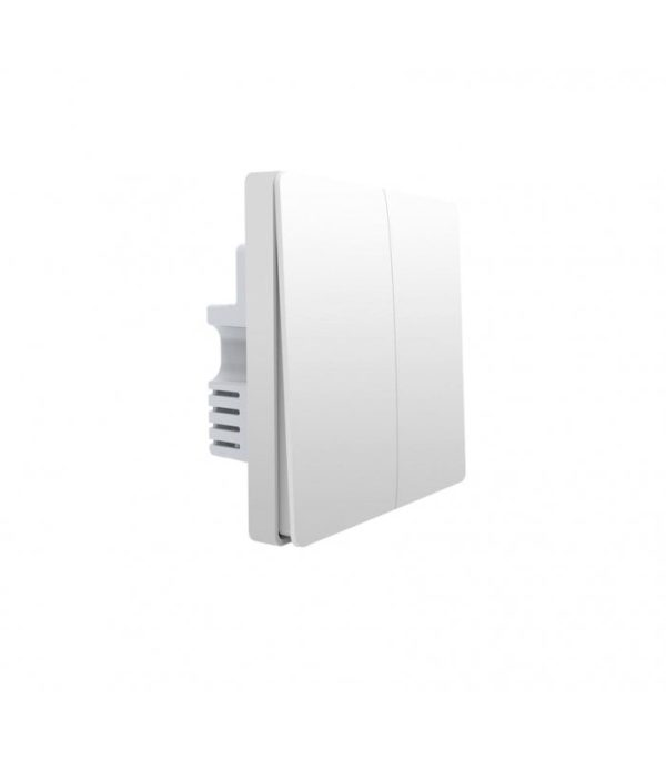 image-Zigbee vypínač s dvojitým relé - AQARA Smart Wall Switch H1 EU (No Neutral, Double Rocker) (WS-EUK02)