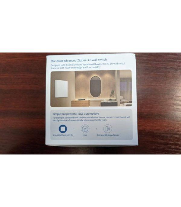 image-Zigbee vypínač s relé - AQARA Smart Wall Switch H1 EU (No Neutral, Single Rocker) (WS-EUK01)
