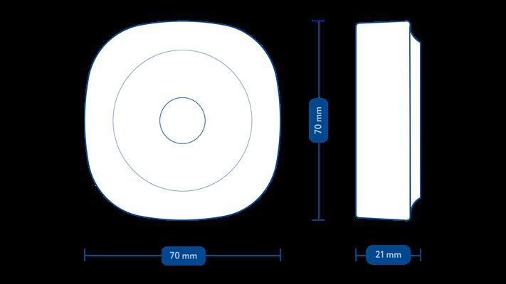 Frient Motion Sensor Pro, ZigBee 3.0 pohybový senzor 12