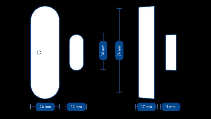 Frient Entry Sensor Pro, ZigBee 3.0 dverový a oknový senzor 9