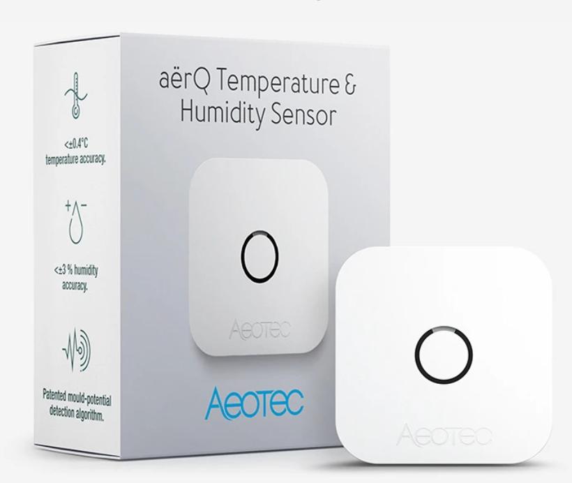 Aeotec AërQ senzor teploty a vlhkosti, Z-Wave Plus V2 5