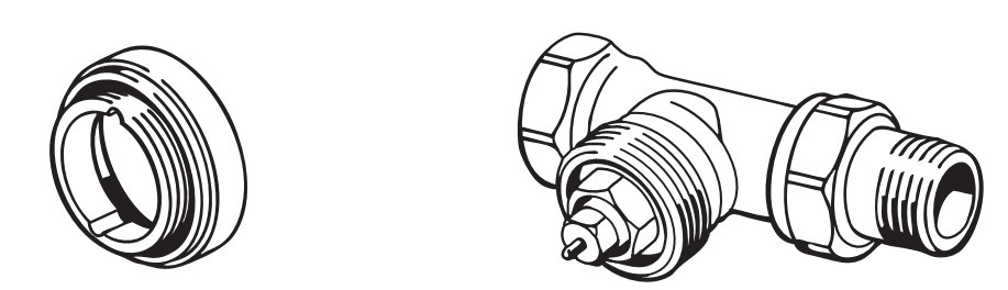 Danfoss adaptér pre radiátorové hlavice