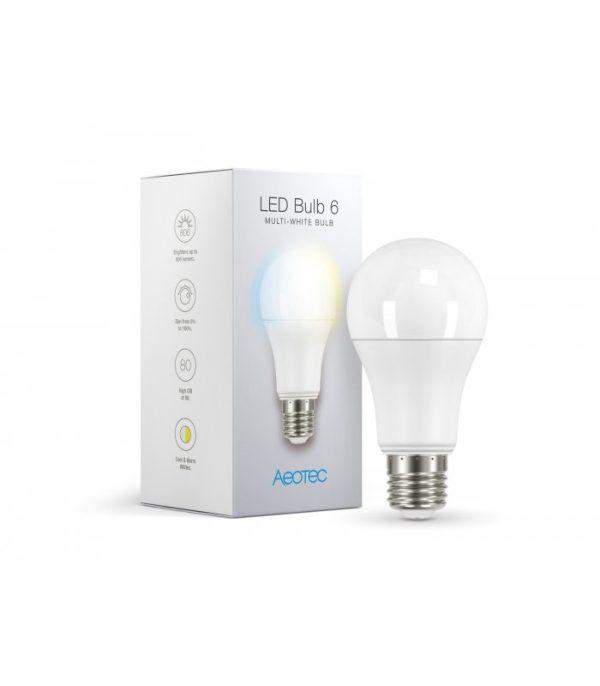 image-Biela žiarovka - AEOTEC LED Bulb 6 Multi-White (ZWA001-C), E27