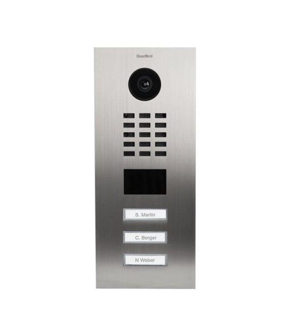 DoorBird D2103V videovrátnik nehrdzavejúca oceľ (zapustený-3 mená)