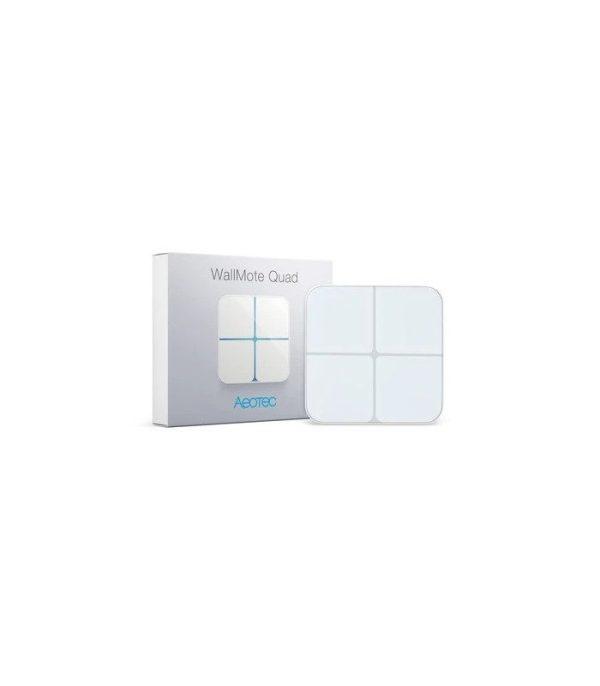 image-Ovládač Scén - AEOTEC WallMote Quad (ZW130-C)