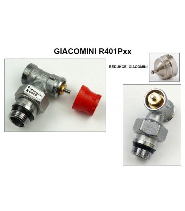 Redukcia na hlavicu pre ventily Giacomini - RE-G