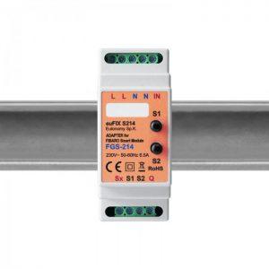image-Eutonomy euFIX S214 DIN adaptér (s tlačidlom)